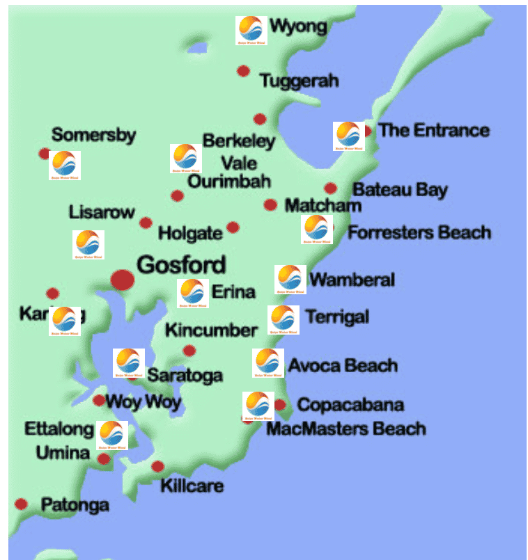 Solar Water Wind central coast locations