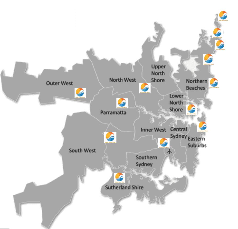Solar Water Wind Sydney locations